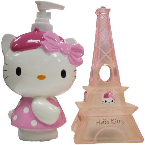 Hello Kitty 'Bonjour Kitty' Poly Resin Toothbrush Holder with Poly Resin Lotion Pump