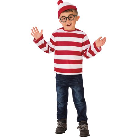Where's Waldo Child Costume (Where's Wally Wenda Costume Large)