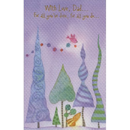 Freedom Greetings Tall Trees on Purple Sky: Dad Christmas Card ()