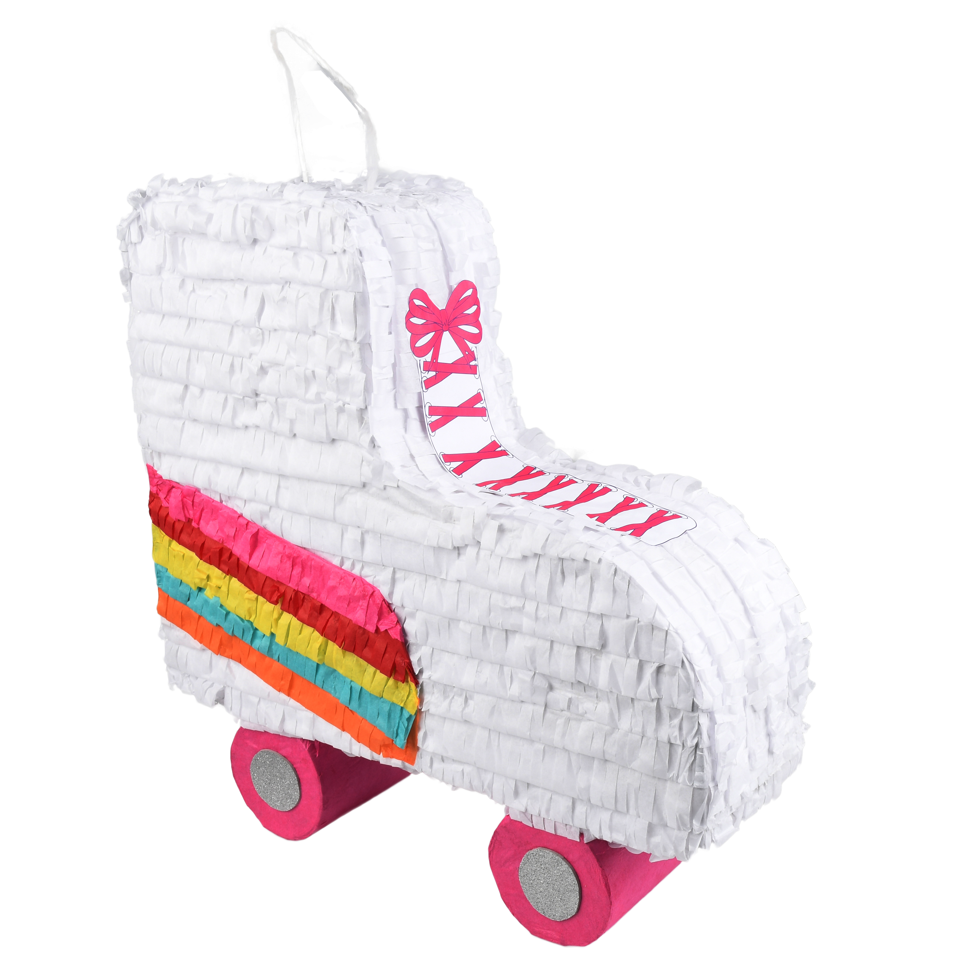 Rainbow Roller Skate Party Pinata, Traditionally Handcrafted