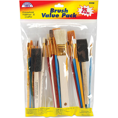 Loew-Cornell Brush Set Value Pack, 25-Pack