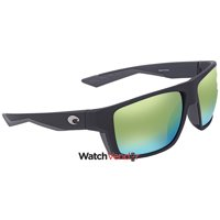 6e0df1a86253 Costa Del Mar Bloke Green Mirror 580P Rectangular Sunglasses BLK 124 OGMP