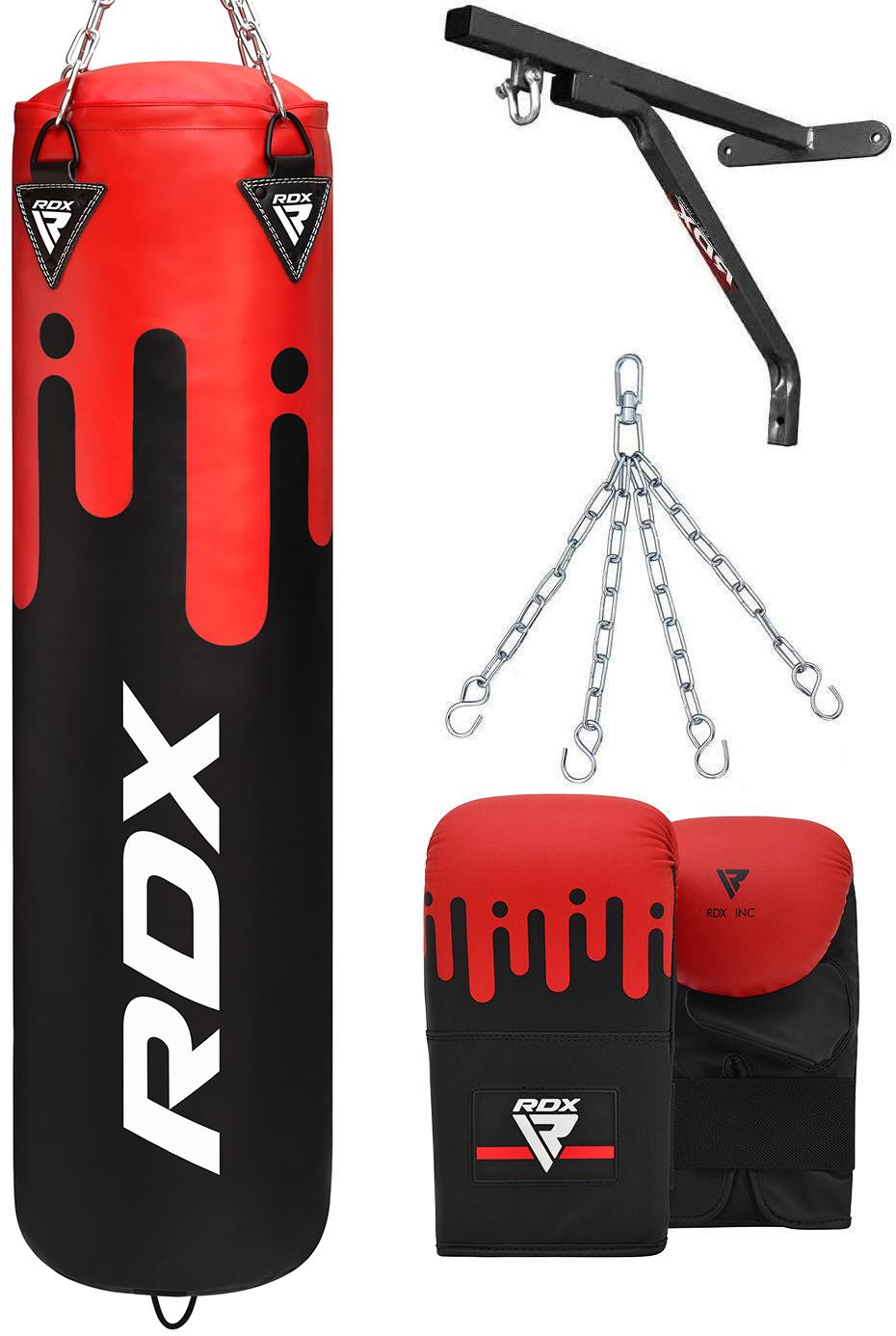 RDX Punching Bag Glove filled Hanging Set Kick Boxing MMA Heavy Punch Training