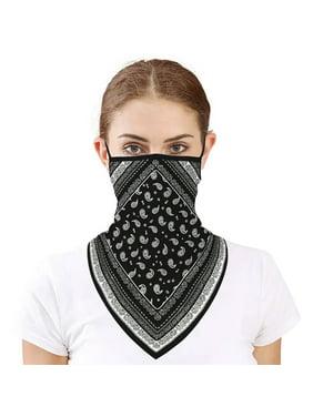 Motorcycle Face Scarf Neck Cover Balaclava Cycling Bike Face Mask Ski Outdoor Bandana UV Protection Triangle Ear Hanging