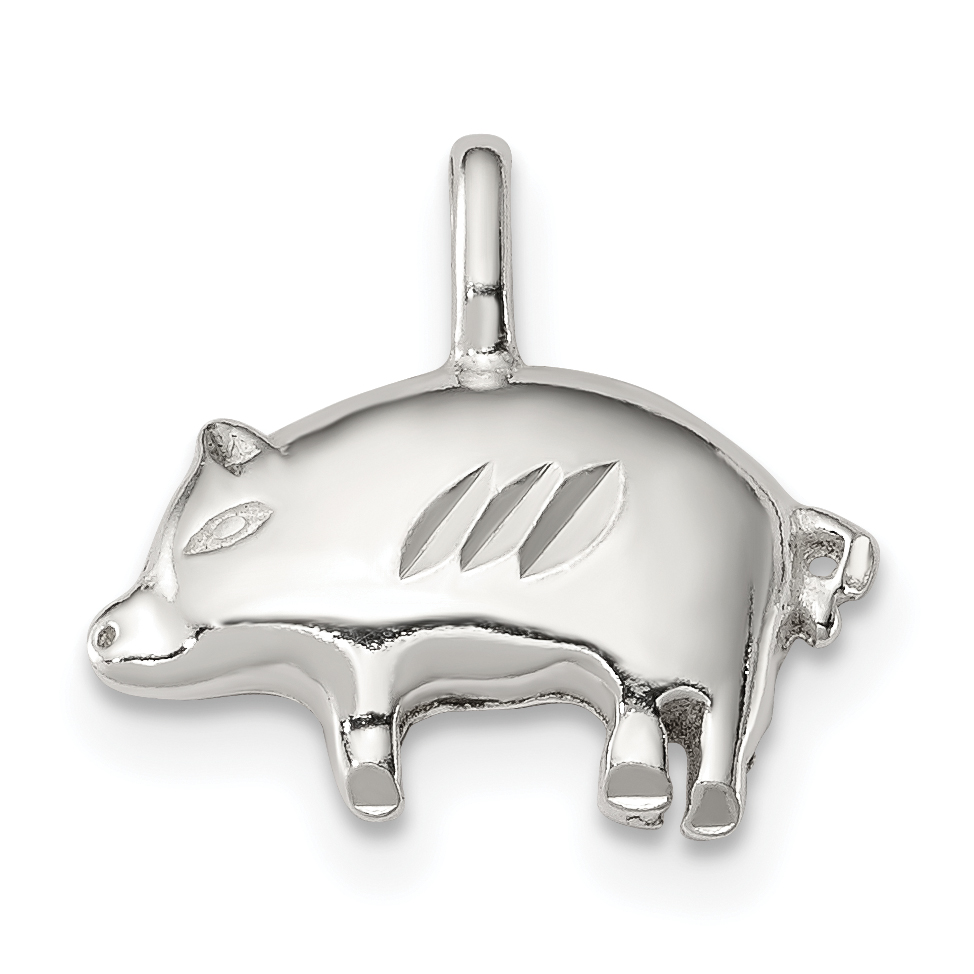 925 Sterling Silver Pig Pendant Charm Necklace Animal Fine Jewelry Gifts For Women For Her - image 4 de 4