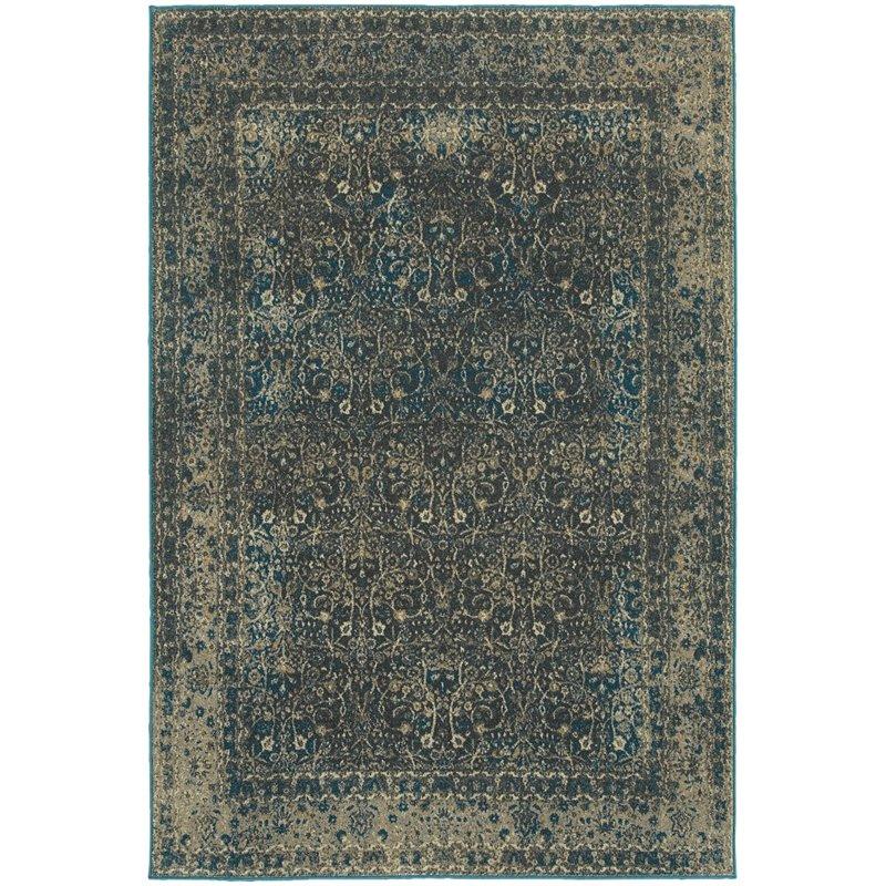 """Oriental Weavers Pasha 1'10"""" x 3' Machine Woven Rug in Navy - image 2 de 2"""