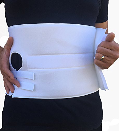 "Stoma Support Ostomy Hernia Belt for Colostomy Bag Abdominal Binder with Stoma Opening (Small ; 6"" Wide)"