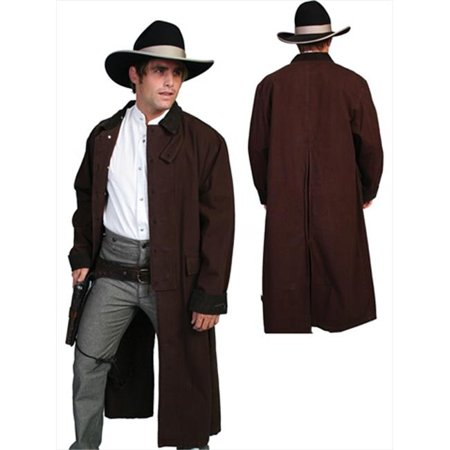 Mens Rangewear Canvas Duster Jacket, Walnut, Medium (Mens Duster Coat)
