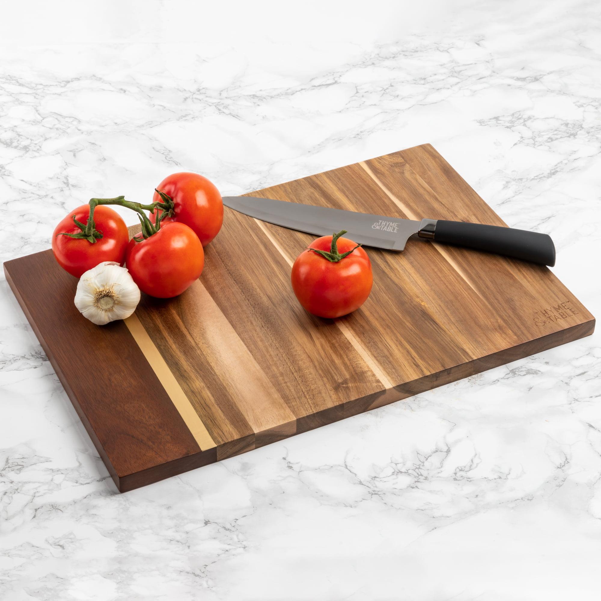 """Thyme & Table 12"""" x 18"""" Acacia Cutting Board"""