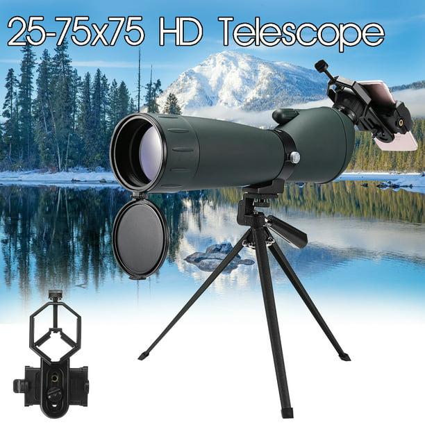 Monocular Spotting Scope BAK4 Telescope Waterproof With Tripod /& Phone Adapter