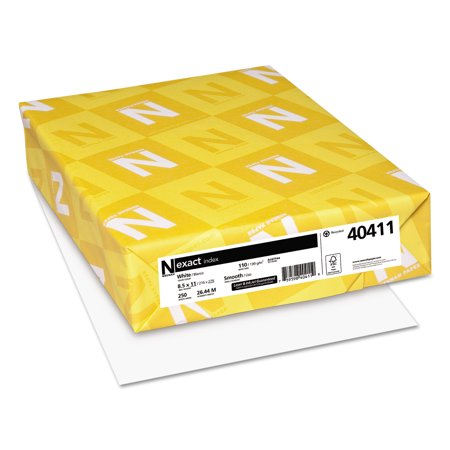 Wausau Paper Index - Neenah Exact Index Cardstock, 8.5