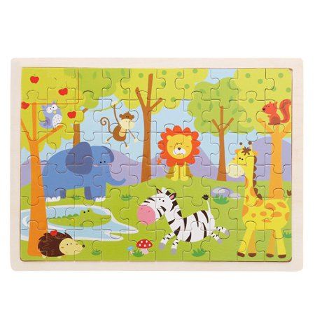 Puzzles For Kids (60-Piece Animal Zoo Wooden Jigsaw Puzzle Baby Kids Children Educational)