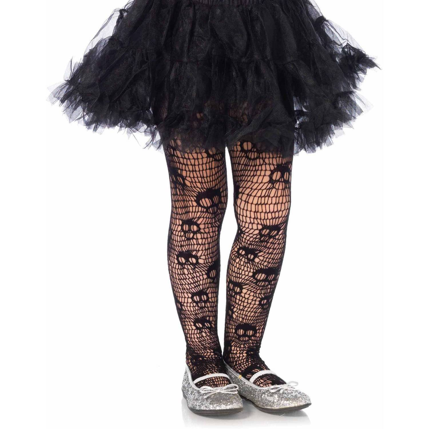 Leg Avenue Skull Striped Net Pantyhose Adult Halloween Accessory