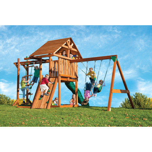 Kids Creations Redwood Circus 4 Swing Set