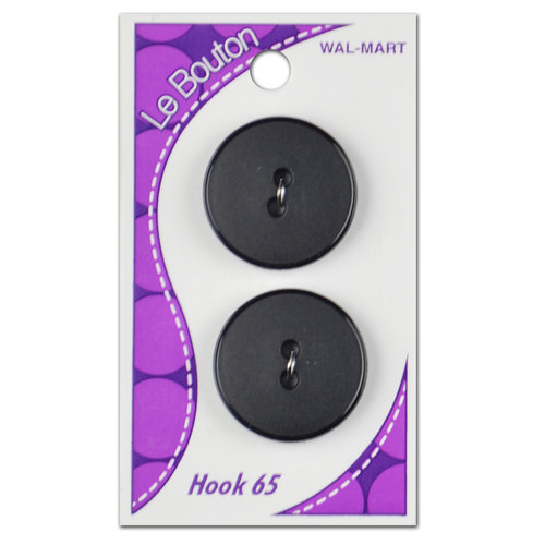 Le Bouton 2-Hole Buttons, Black