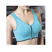 LELINTA Women's Seamless Solid Sports Bra Racerback Padded Stretch Fitness Tops Workout Zipper Yoga Bras
