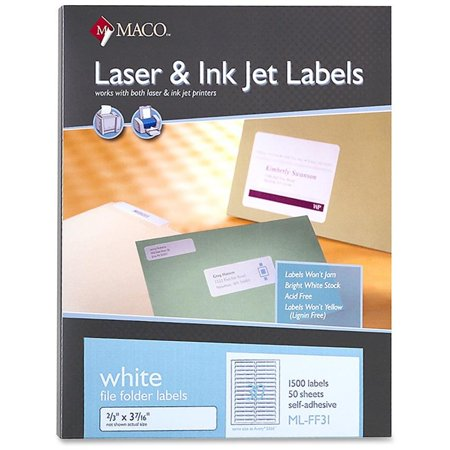 Maco Assorted Laser/Inkjet File Folder Labels