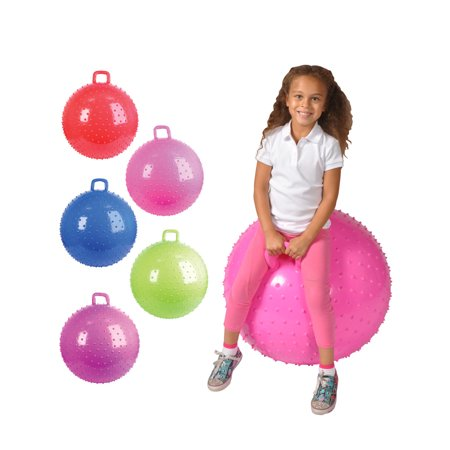 Child's Inflatable Knobby Handle Giant Bouncy Ball Toy ...