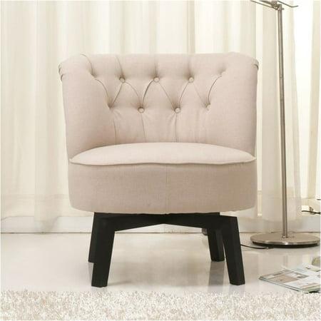 Pleasing Brika Home Fabric Swivel Chair In Beige Bralicious Painted Fabric Chair Ideas Braliciousco