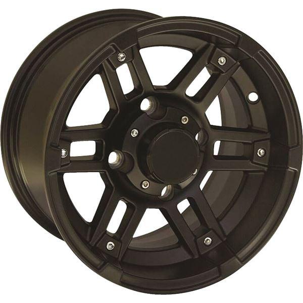 Matte Black 12x7, 4/110, 2+5 Ocelot One Zero Four Wheel - 12X7 4/110 2+5 MTBLK