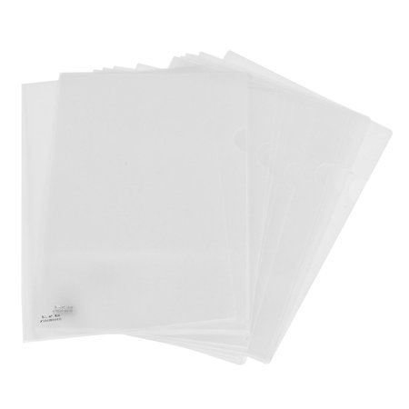 Clear Plastic Folders (Unique Bargains Portable Plastic Clear A4 Paper Document File Folder Holder 20)