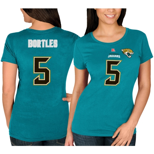 Jacksonville Jaguars Women's Fair Catch V Name & Number T-Shirt - Teal