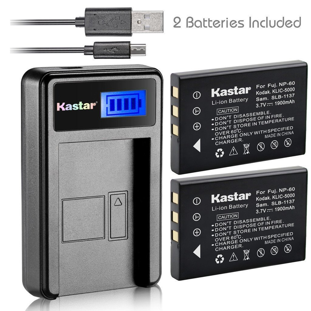 Kastar Battery _X2_ & LCD Slim USB Charger for Hewlett Pa...