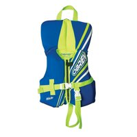 O'Brien Infant USCG Approved Type II Life Jacket (0-30 Ibs), Pink/Aqua or Blue/Green