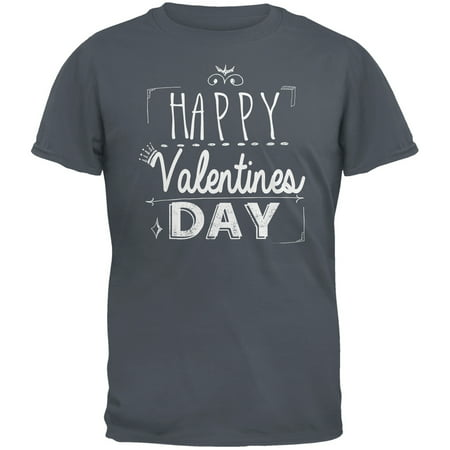 Happy Valentines Day Sign Grey Adult T-Shirt](Valentines Day Crafts For Adults)