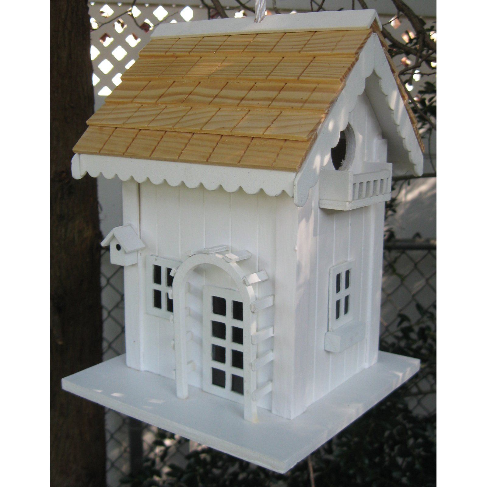 Home Bazaar Arbor Cottage Birdhouse White by Home Bazaar Inc.