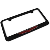 JEEP TRAIL HAWK Logo License Plate Frame Black Powder Coated Metal Hand Painted Engraved