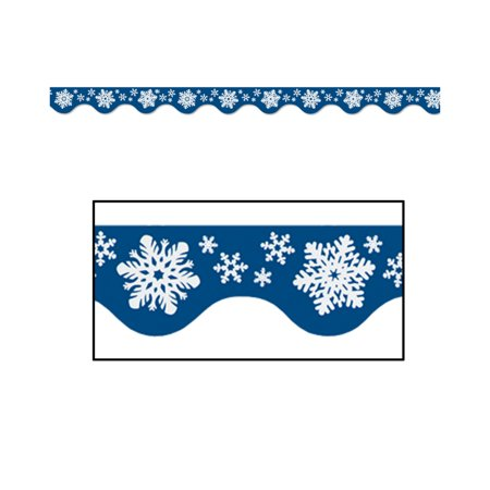 6 Winter Wonderland Room Wall Border Trim Scene Setter Decal - Christmas Room Setters