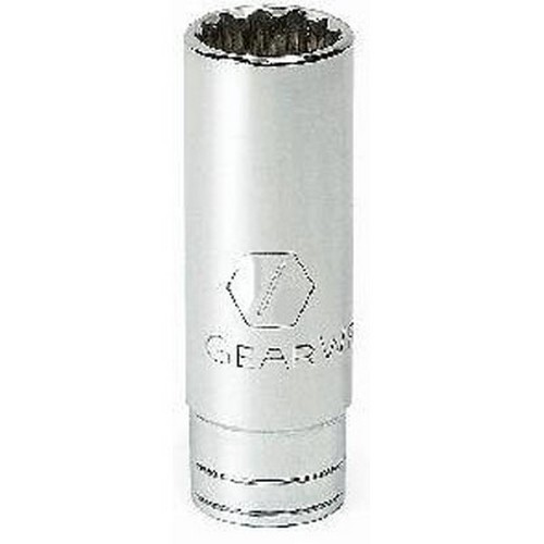 """Gearwrench 80519 3/8"""" Drive 12 point Deep Socket 7/8"""""""