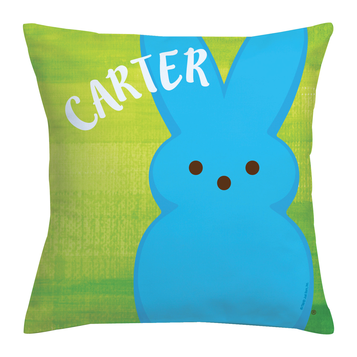 Personalized Peeps Bunny Throw Pillow