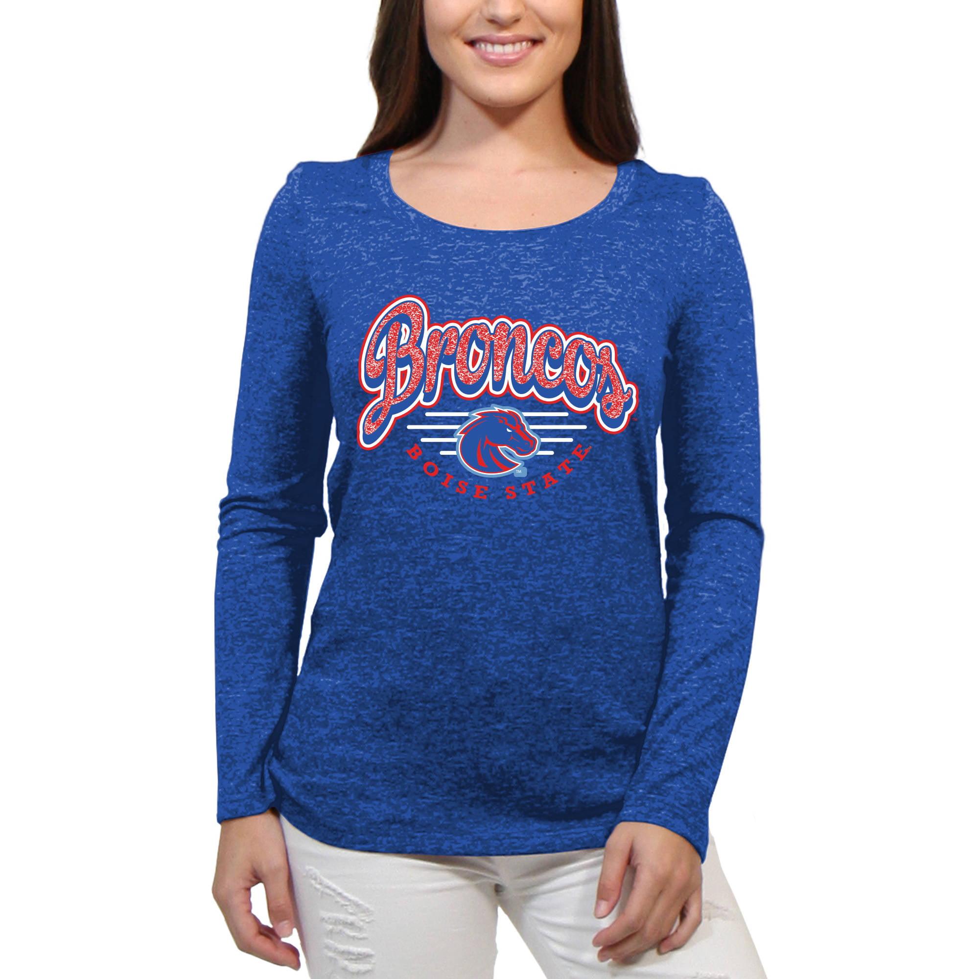 Boise State Broncos Funky Script Women'S/Juniors Team Long Sleeve Scoop Neck Shirt