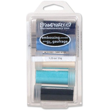 Embossing Powder Kit, Submerge, 5-Pack (EK16), Give all your projects a unique look; apply generously over slow drying ink and heat to set By STAMPENDOUS