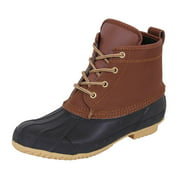 """Rothco 6"""" All Weather Waterproof Duck Boots, Brown/Black"""