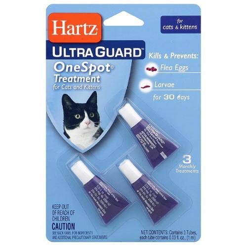 Hartz UltraGuard One Spot Flea Egg Treatment For Cats, 0.03 oz 3 ea (Pack of 6)