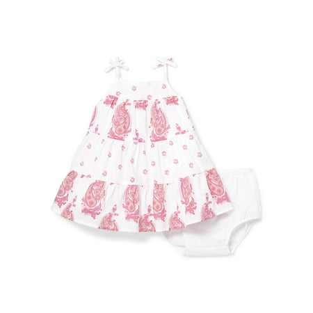 Baby Girls Floral Paisley Shift Dress and Bloomer Set (Baby and Toddler Girl) ()