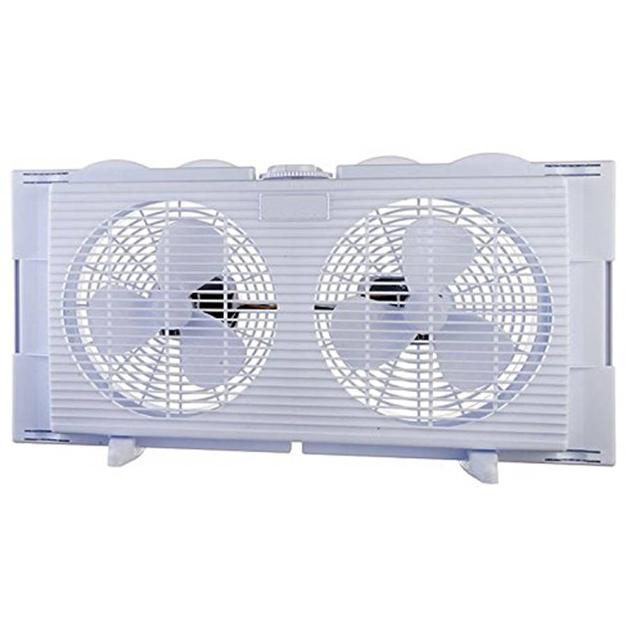 High Velocity 2-in-1 Double Window Horizontal Vertical Fit Energy Efficient Fan