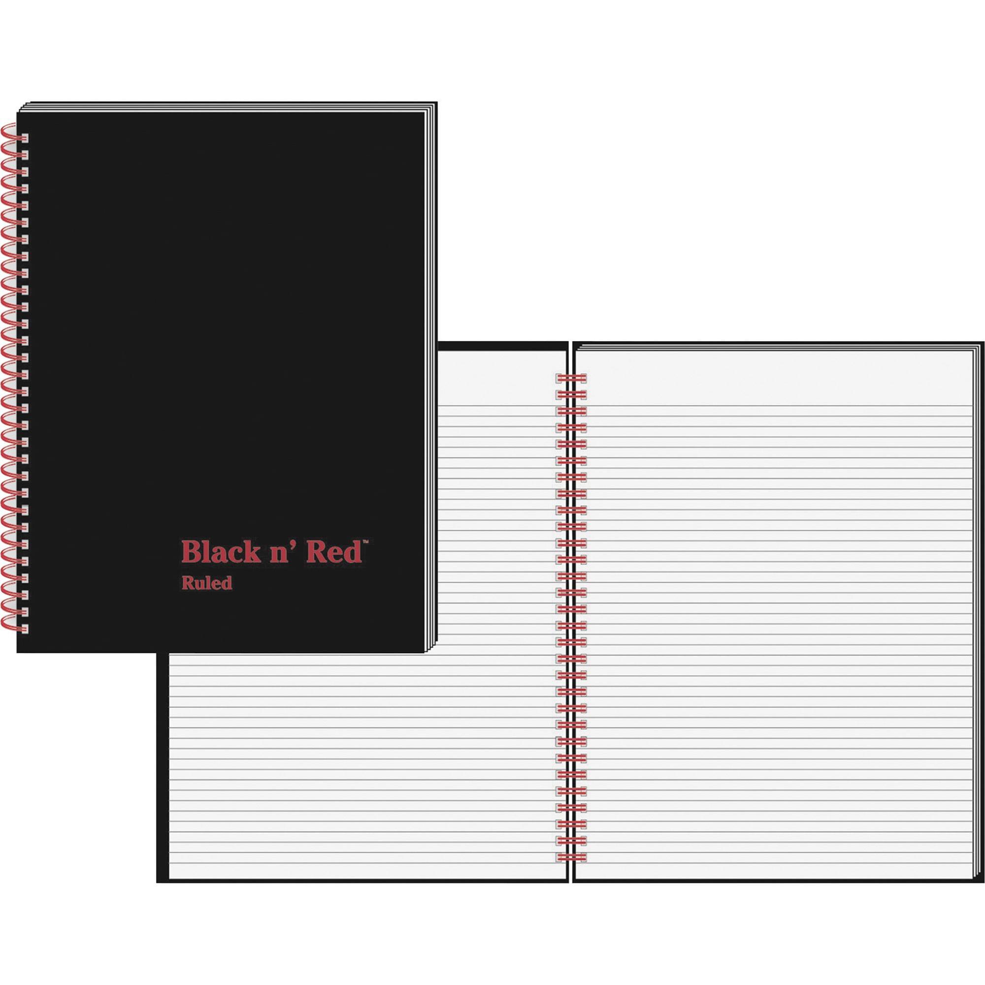 Black n' Red, JDKK67030, Ruled/ Perf. Wirebound Notebook - Letter, 1 Each