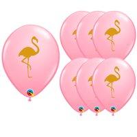 "Luau Luxe Summer Flamingo Standard 11"" Latex Balloons, Pink Gold, 20 CT"