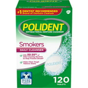Best Denture Cleaners - (2 pack) Polident Smokers Antibacterial Denture Cleanser Effervescent Review