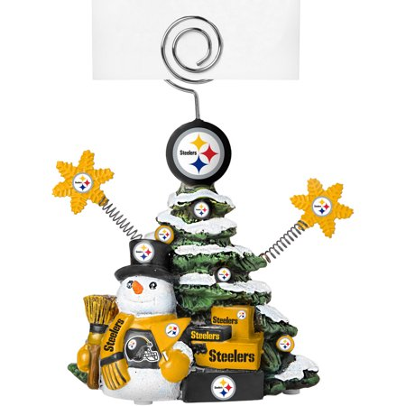 Topperscot by Boelter Brands NFL Tree Photo Holder, Pittsburgh - Steeler Ornaments
