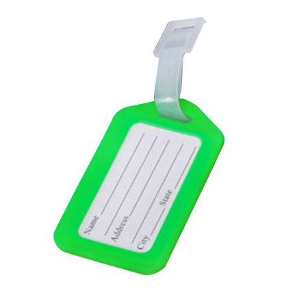 Ustyle 10Pcs Plastic Boarding Check Luggage Travel Suitcase Hang Tag Ticket Card Plane Boarding Name Label Travel - image 1 of 3