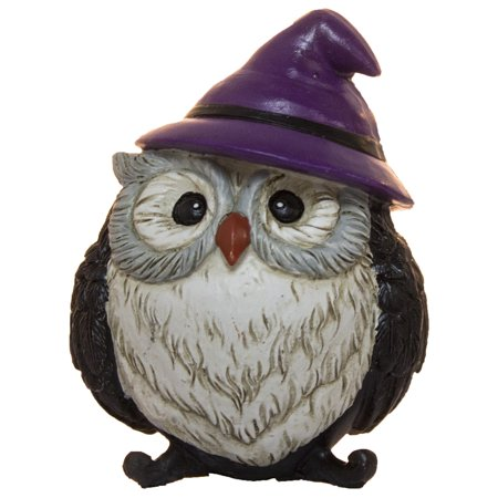 Halloween Dcor- 3 Inch Polyresin Owl Dressed As A Witch - Origami Owl Halloween