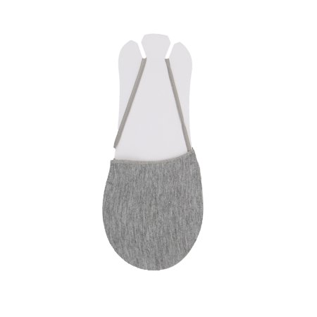 Women Heelless Invisible One Strap Cotton Half Socks 10 pair Size 9-11 Gray - image 4 of 6