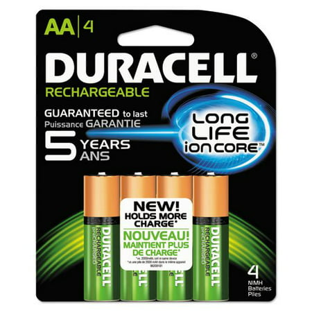 c6f6c4f5752 Duracell - Rechargeable NiMH Batteries with Duralock Power Preserve  Technology, AA, 4/Pack NLAA4BCD (DMi PK - Walmart.com