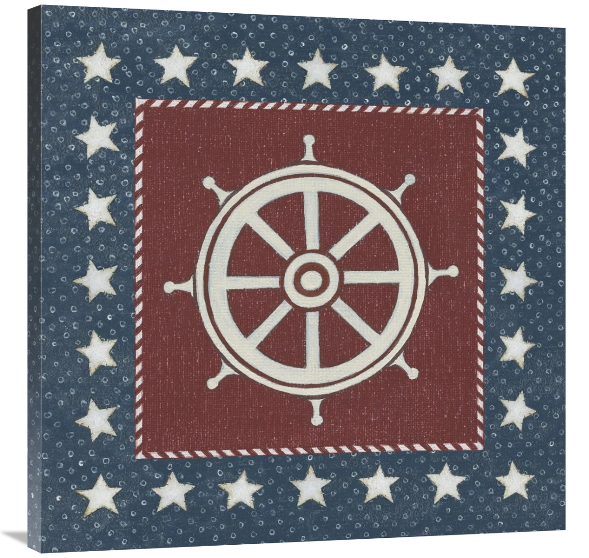 Global Gallery's 'Coastal Americana IV' by David Carter Brown Stretched Canvas Wall Art
