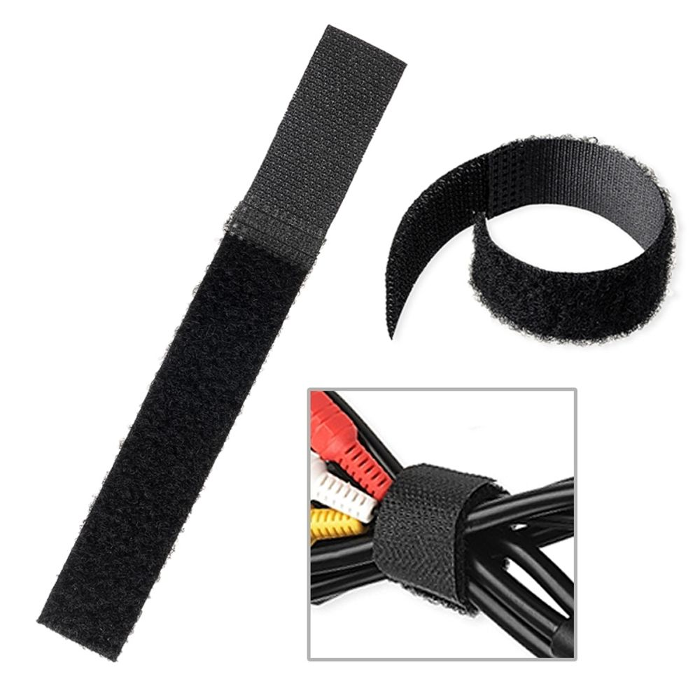 Insten 20*150mm Black Cable Ties Wire Cord Straps Reusable Hook Loop
